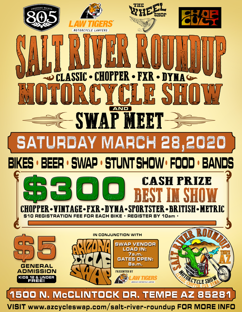 Image of Salt River Round Up Show Bike Entry - March 28th