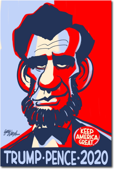 "Image of Lincoln ""Keep America Great"" 2020"