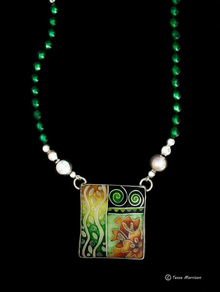 Image of Growth Cloisonné Enamel Necklace
