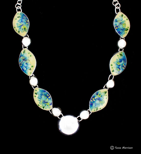 Image of Spring time: Cloisonné Enamel Necklace