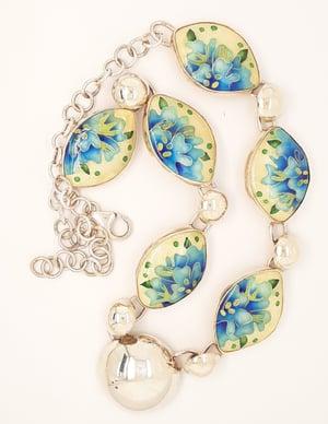 Image of Spring time: Cloisonné Enamel Necklace
