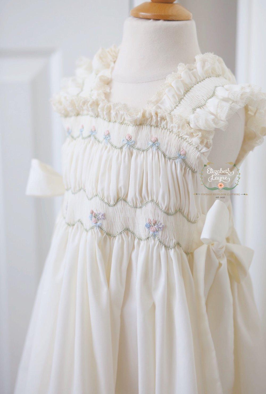 Image of Phoebe Smocked Peasant Dress