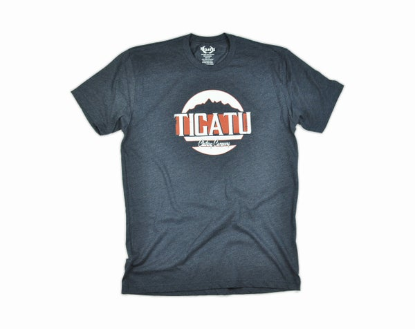 "Image of ""Peaks"" Men's Tee - Midnight Navy"