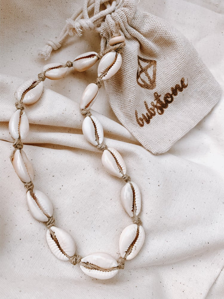 Image of Cowrie Shell Hemp Necklace