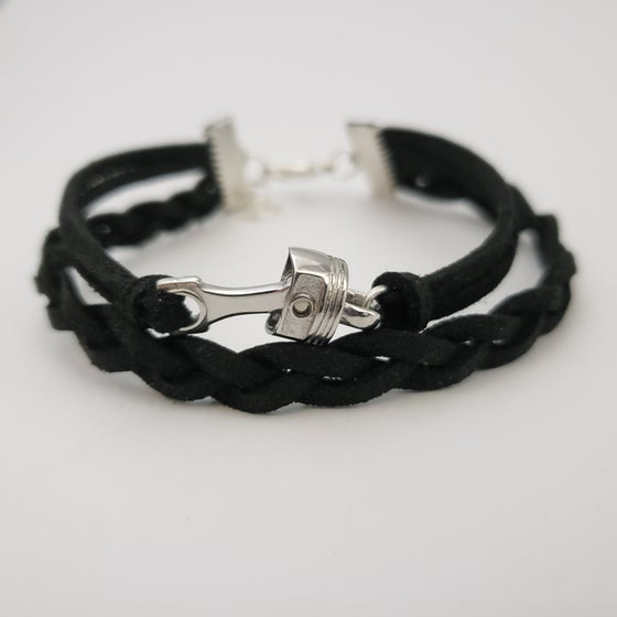 Image of Leather Piston Bracelet