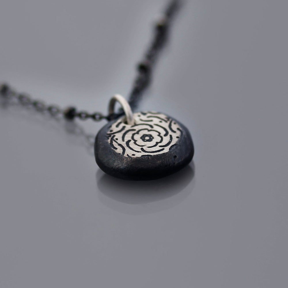 Image of Sterling Silver Peony Nugget Necklace