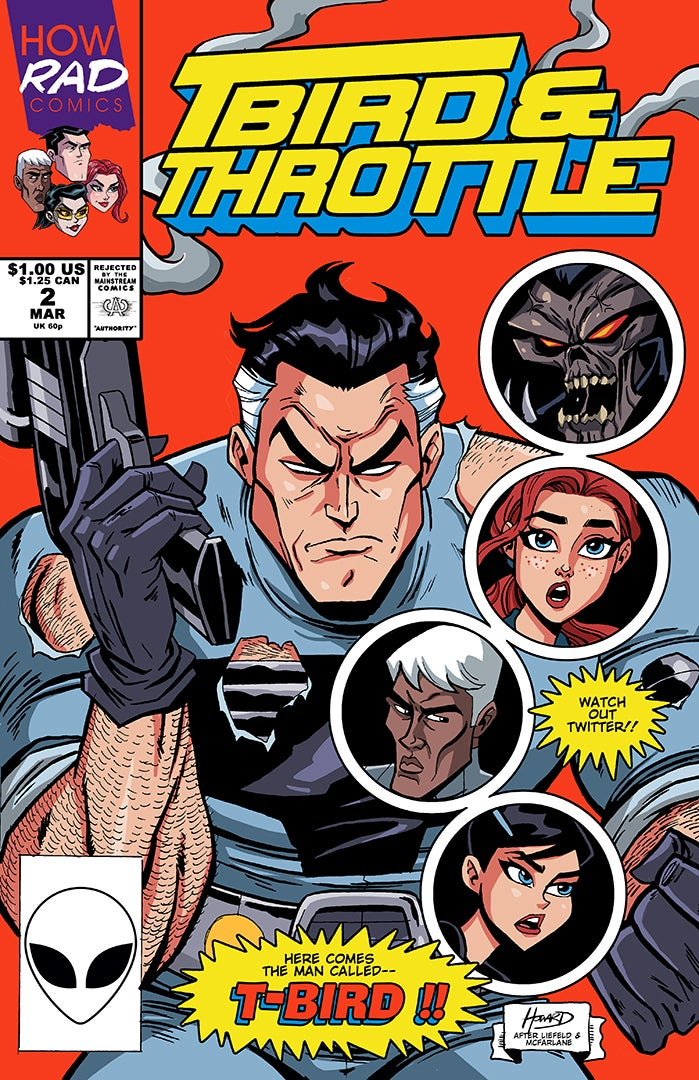 Image of T-Bird & Throttle #2 - Tribute Cover