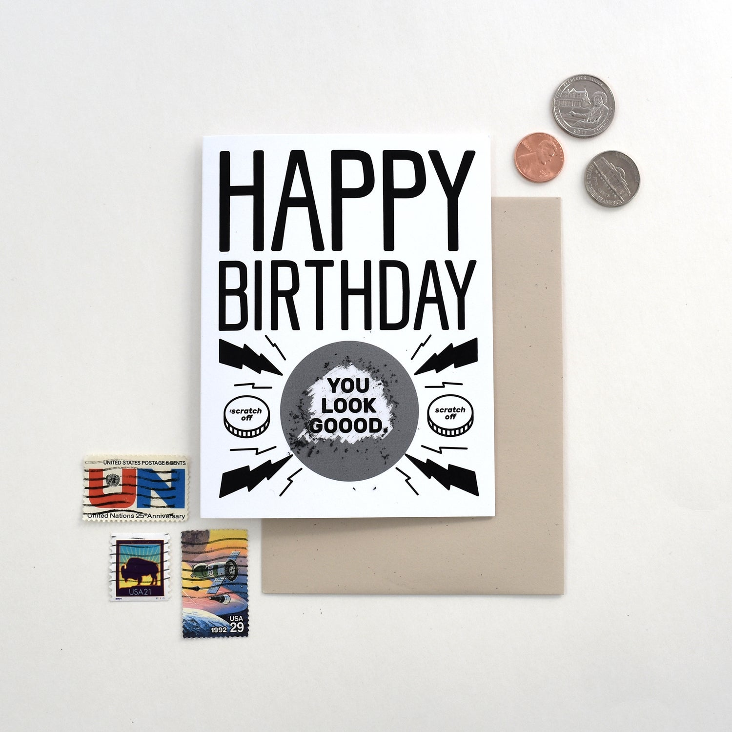 Image of Good Looking Birthday Scratch Card