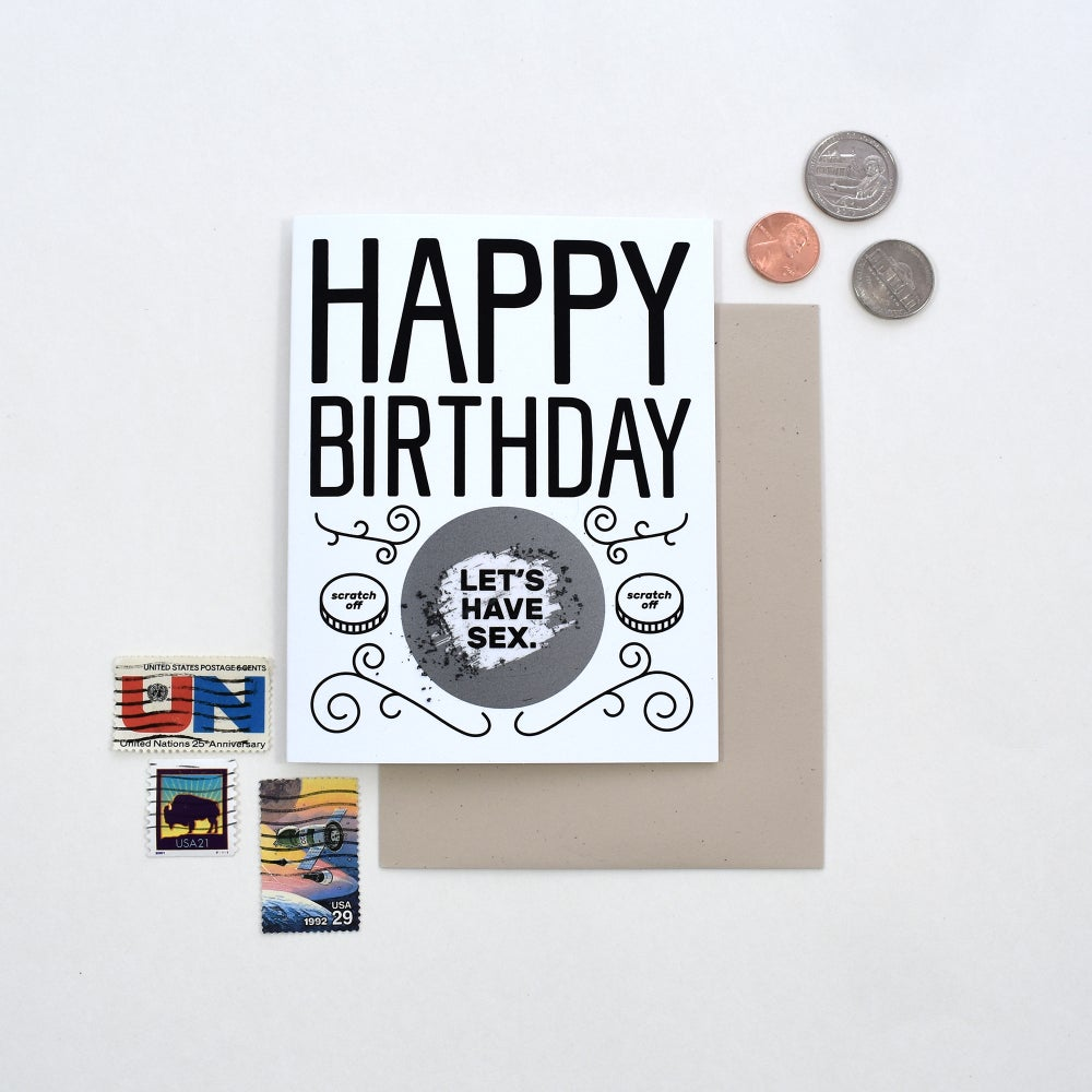 Image of Sexy Birthday Scratch Card