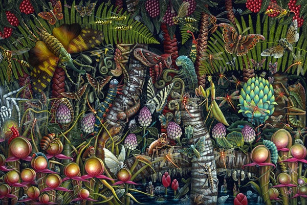 "Image of MICROCOSMIC GARDEN • 35 X 23"" SIGNED EDITION"