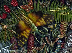"Image of MICROCOSMIC GARDEN • 35 X 23"" OPEN EDITION"