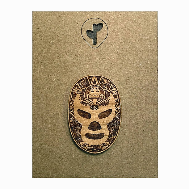 Image of luchador / lapel pin