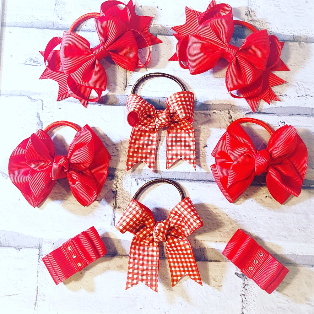 Image of 8 Ribbon bow school set