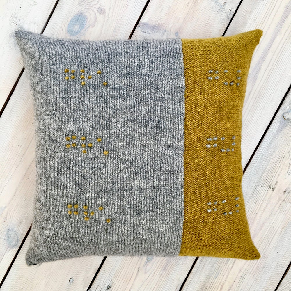 Image of Feel the Colour® cushion cover - yellow/grey - Made to Order