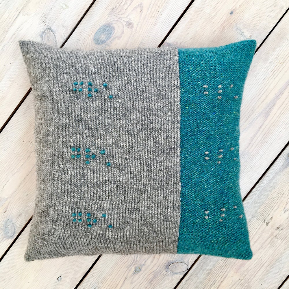 Image of Feel the Colour® cushion cover blue/grey - Made to Order