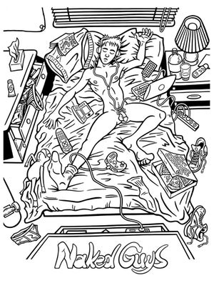 Naked Guys: An Adult Coloring Book For Adults