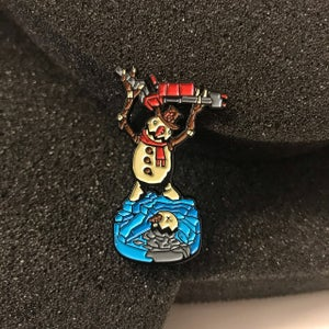 Frosty the Pyro soft enamel pin