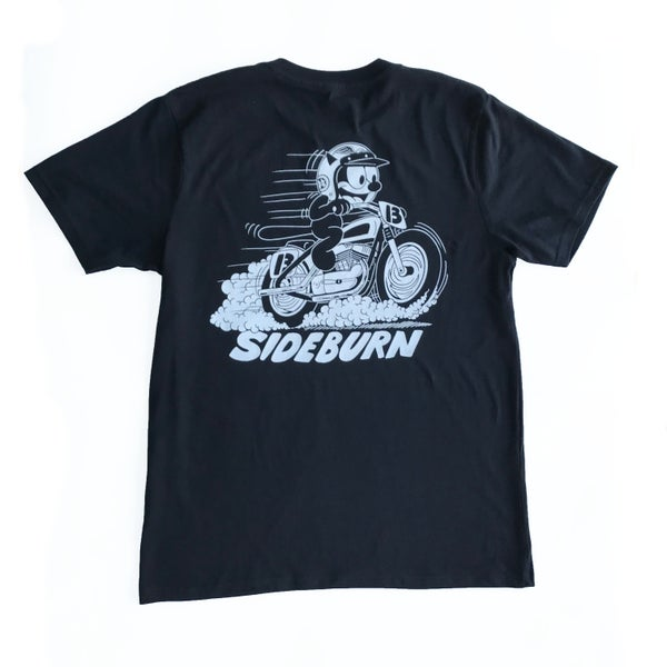 Image of Sideburn KR750 Cat T-shirt