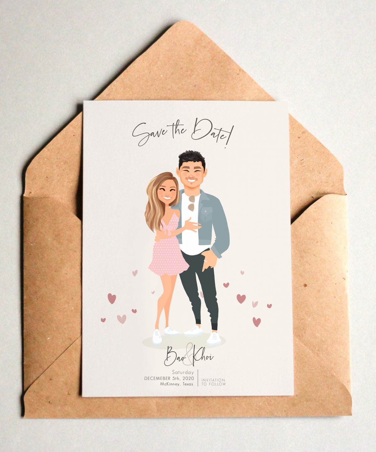 Image of Custom Save the dates