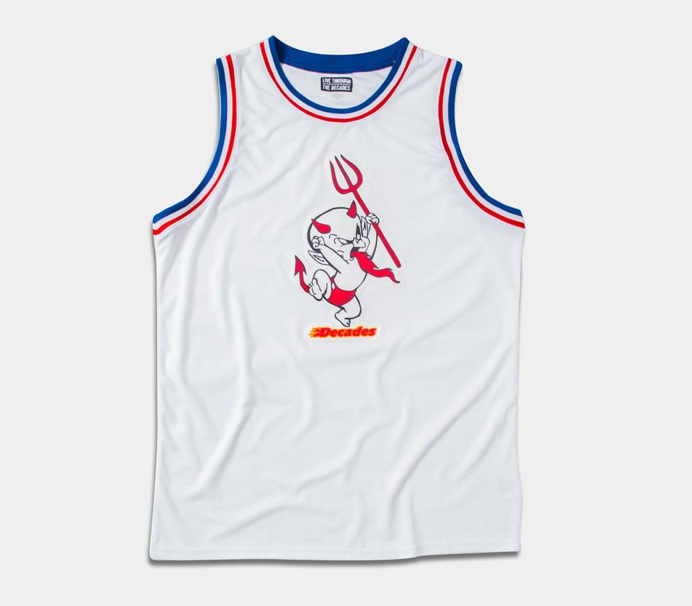 Image of Yakub Basketball Jersey White