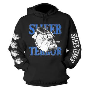 """Image of SHEER TERROR """"Bulldog Sleeves"""" design Hoodie"""