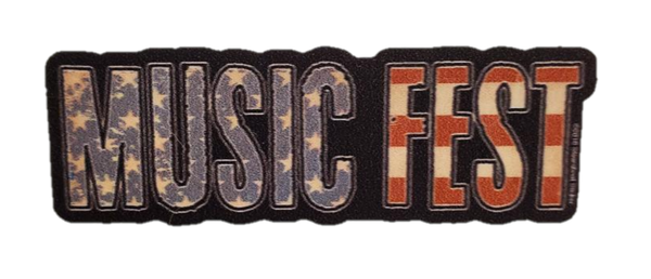 Image of Sticker - Music Fest USA Flag (big)
