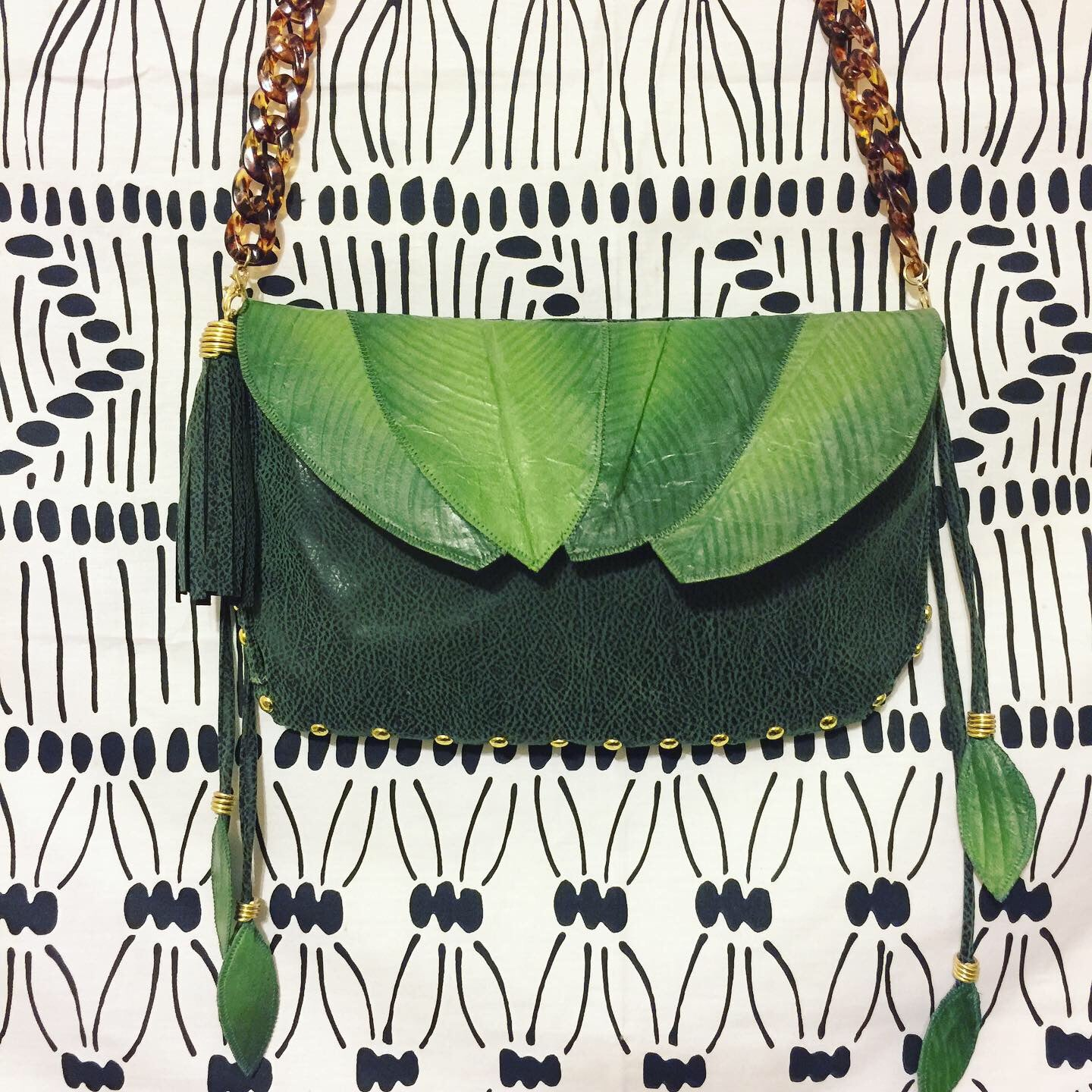 Image of Custom order for Teresa~ Leaf Crossbody Clutch🌱