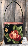 Image of Walking Bag... pretty floral on black!