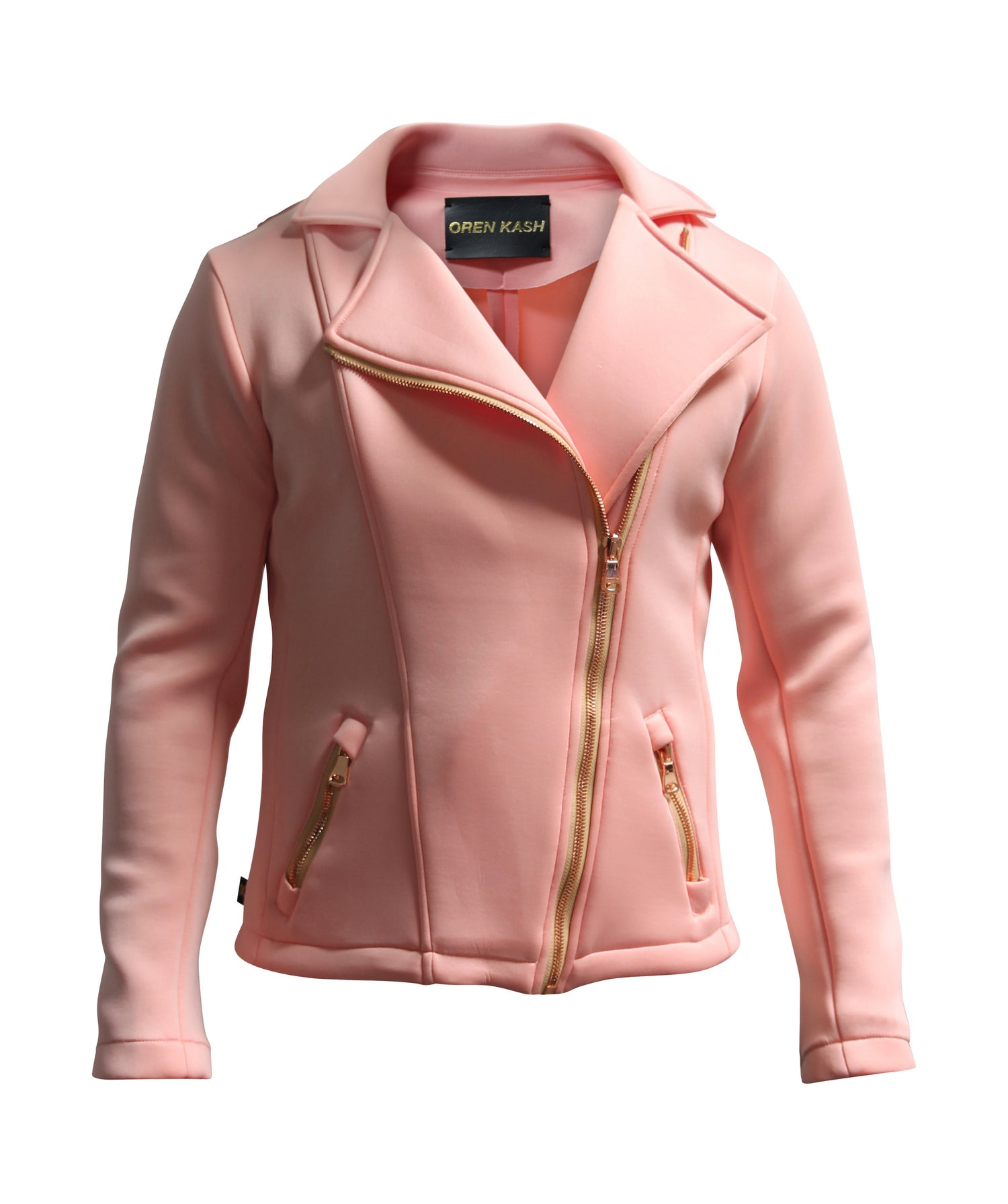 Image of Solid Rose Super Scuba Moto Jacket