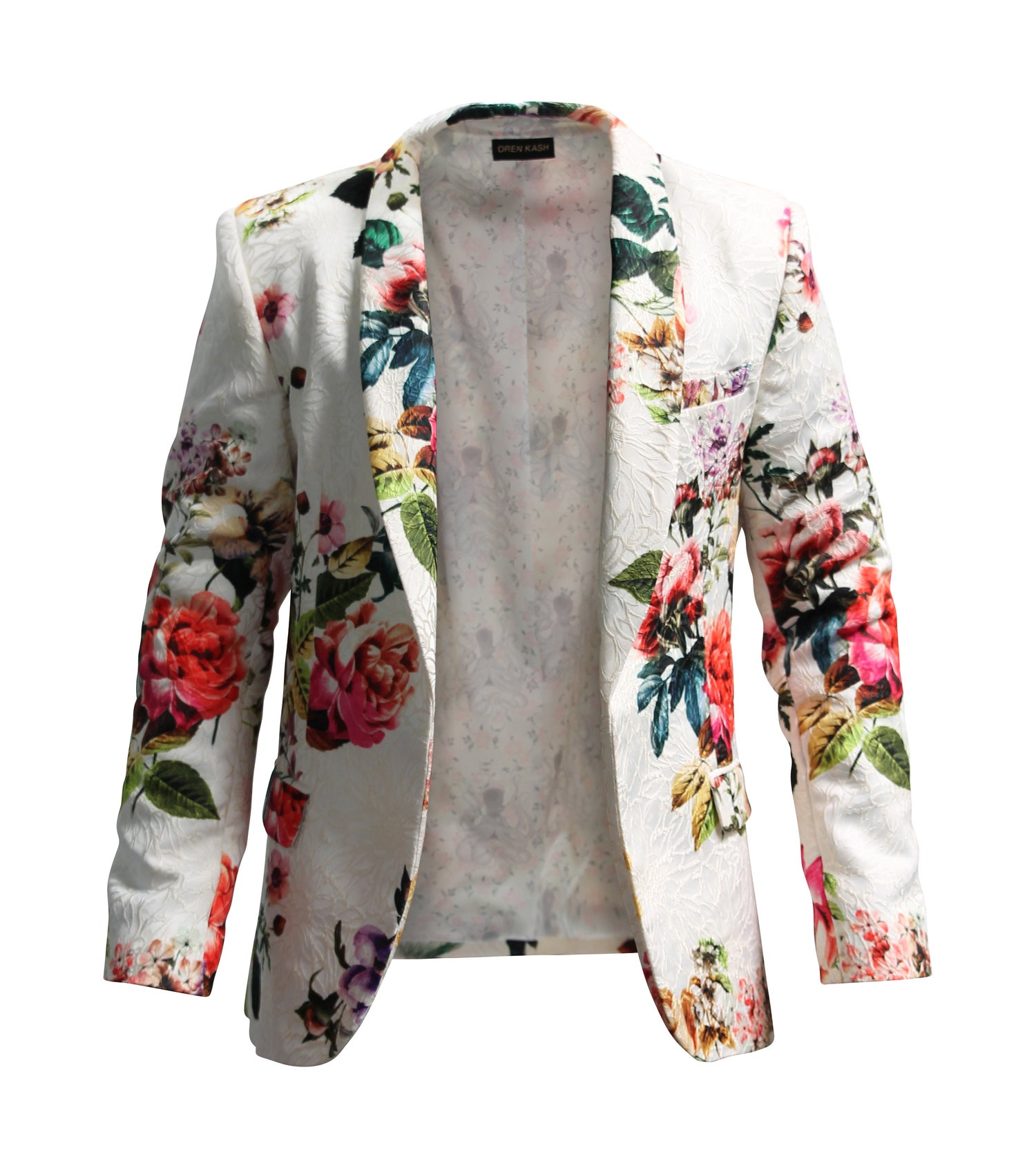 Image of Printed Brocade Blazer