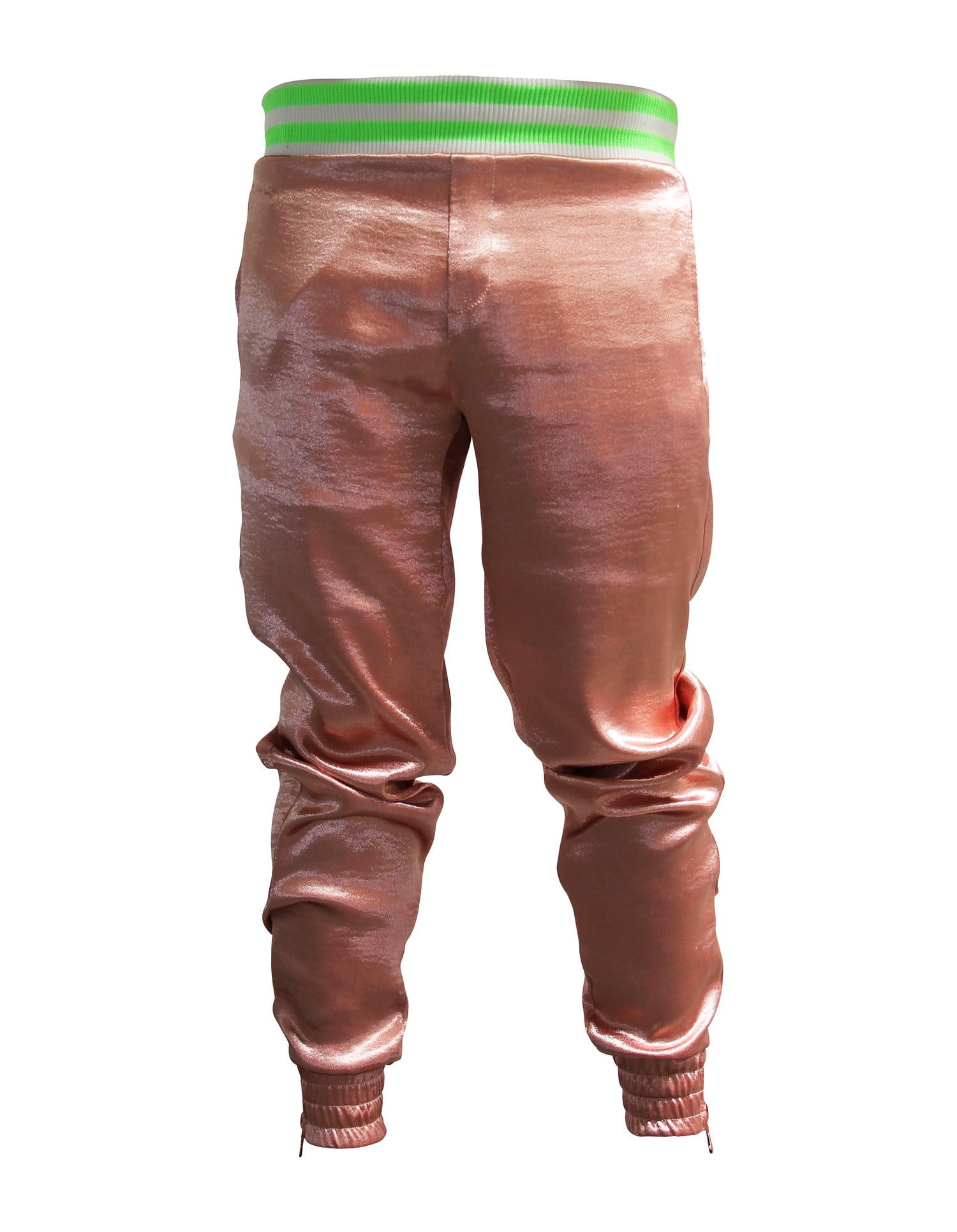 Image of Rose Hammered Satin Jogger