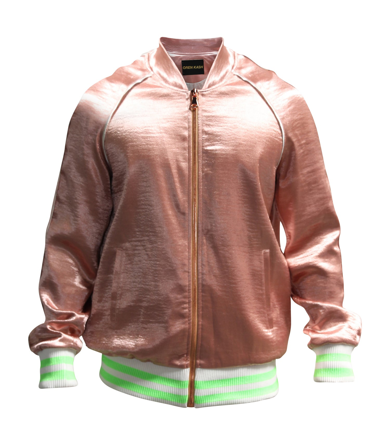 Image of Rose Hammered Satin Bomber