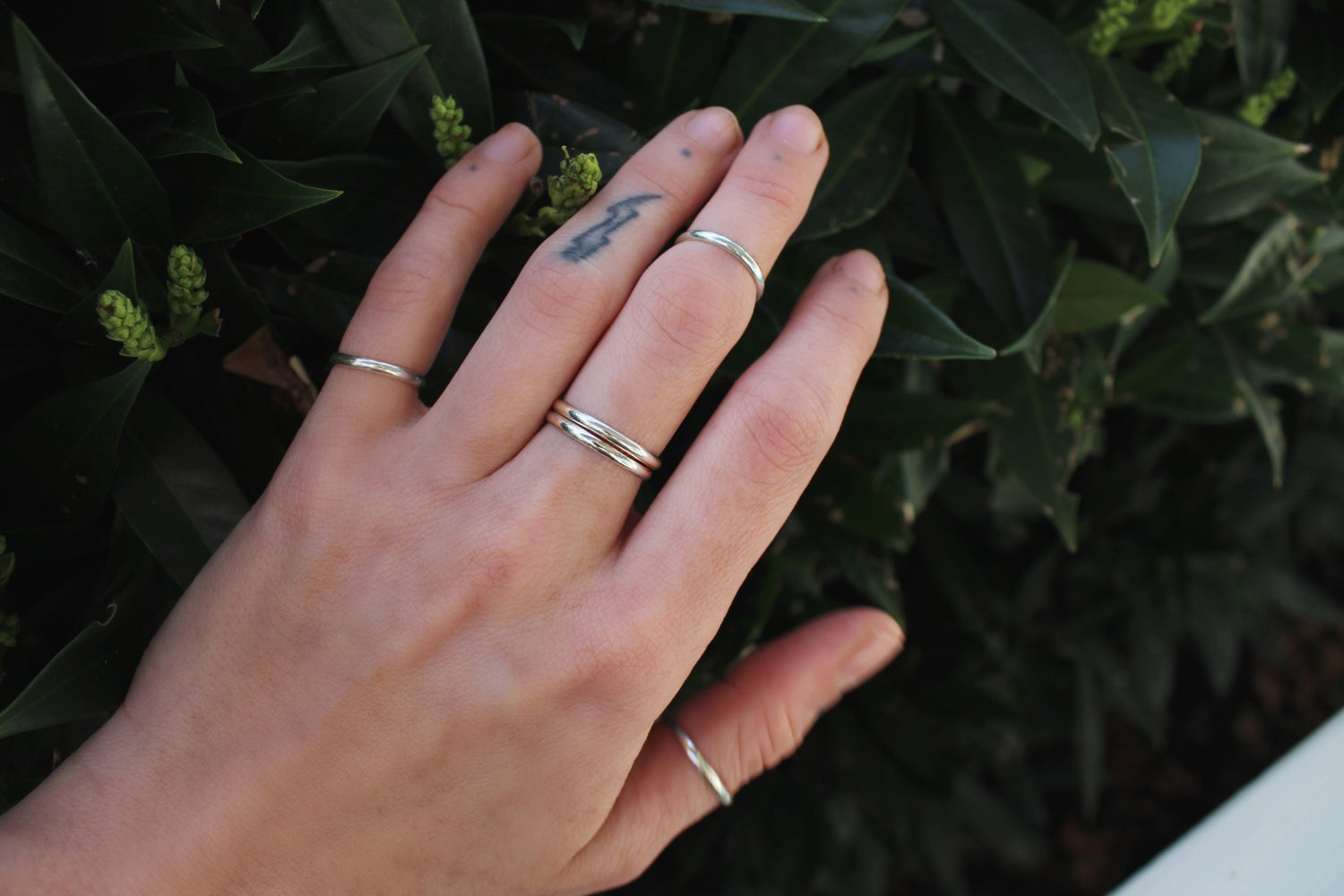 Image of Solid Sterling Silver Band