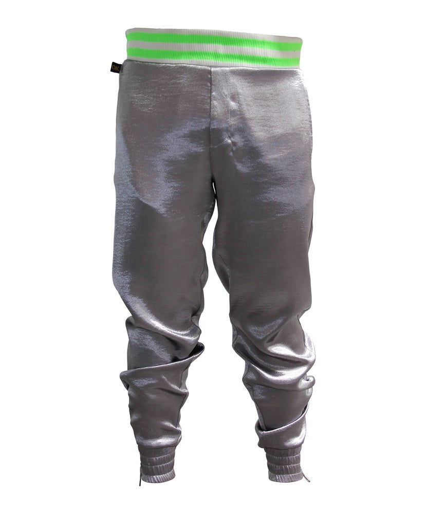 Image of Steel Hammered Satin Jogger
