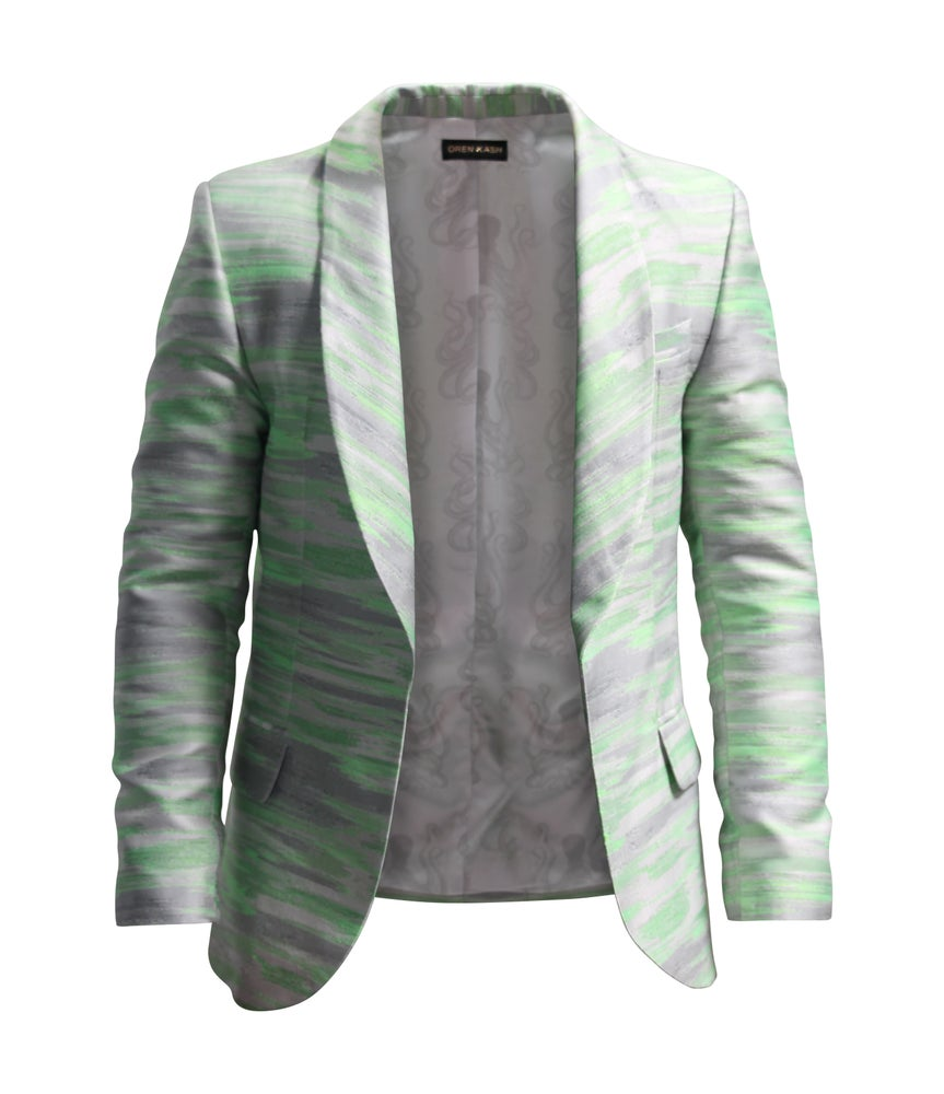 Image of Geo Stripe Blazer