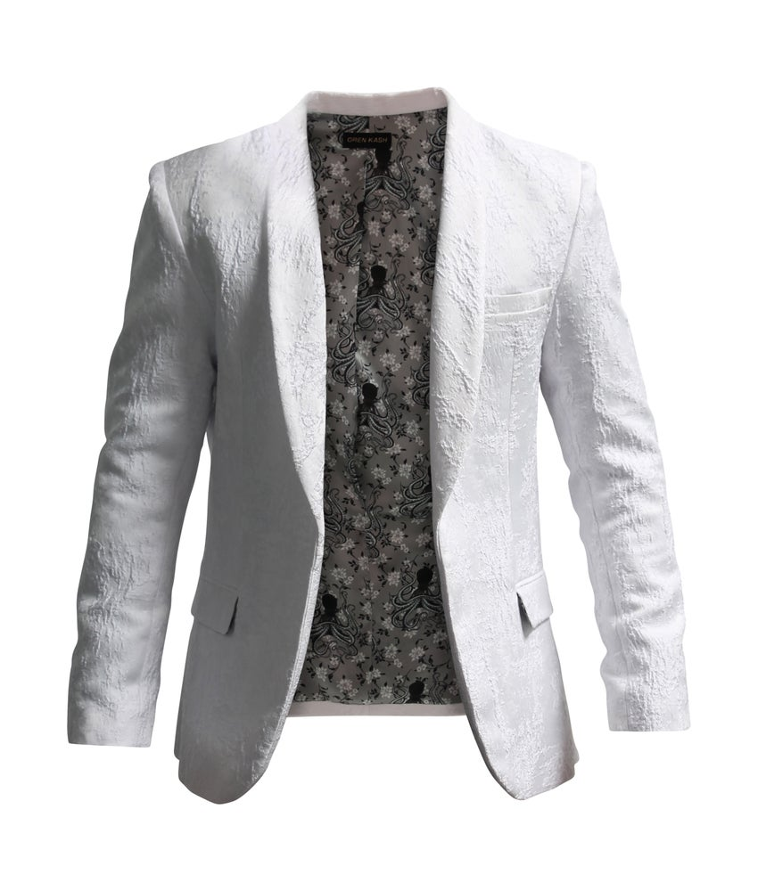 Image of Textured Brocade Blazer