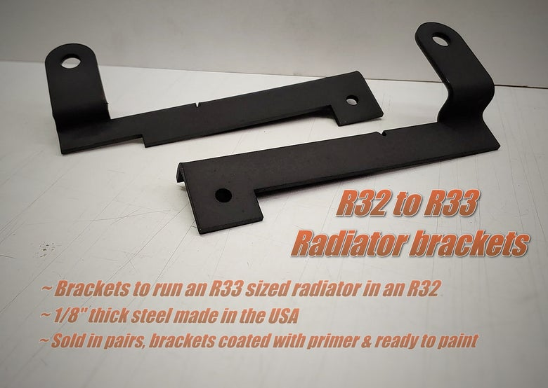 Image of R32 to R33 Radiator brackets