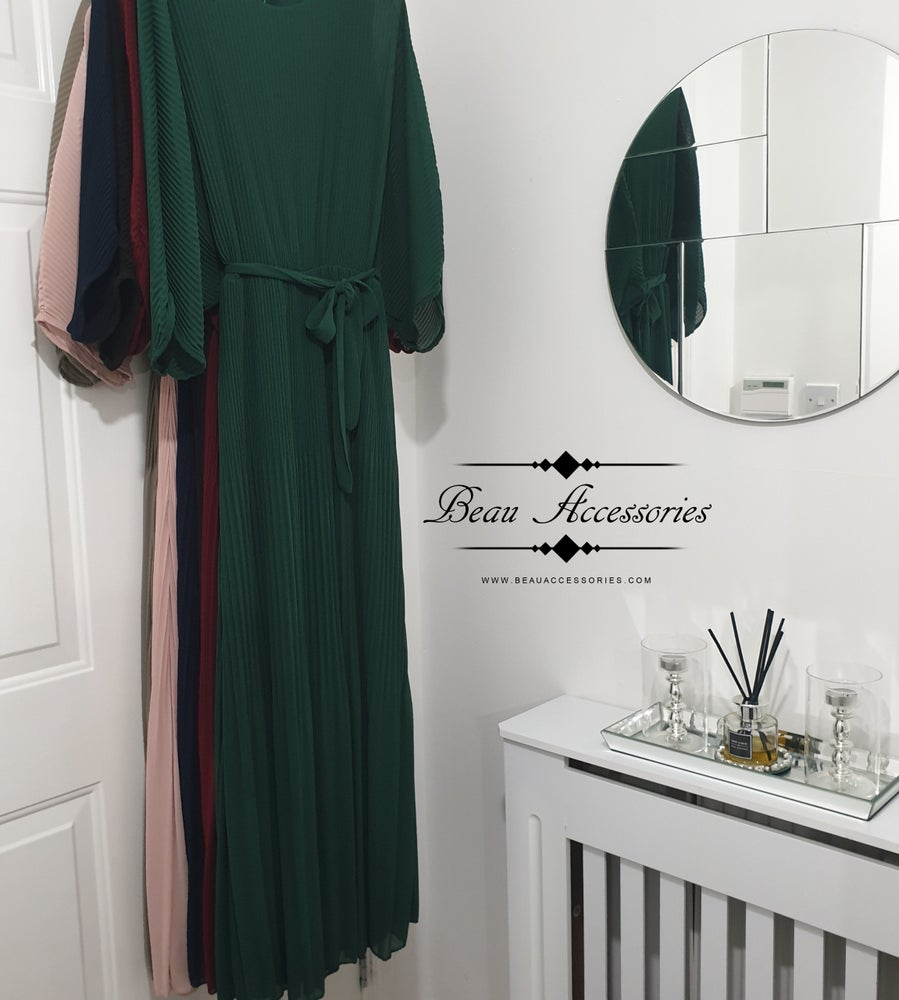 Image of Pleated Batwing Maxi dress