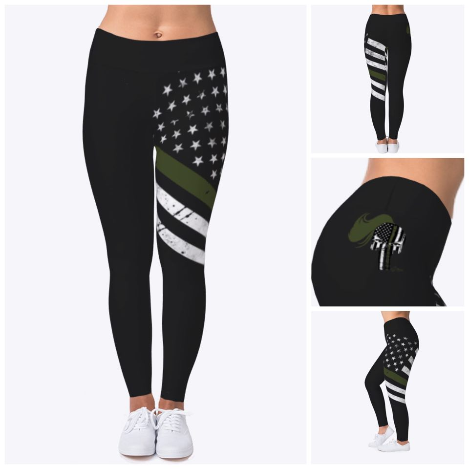 Image of GREEN LINE LADY WARRIOR LEGGINGS