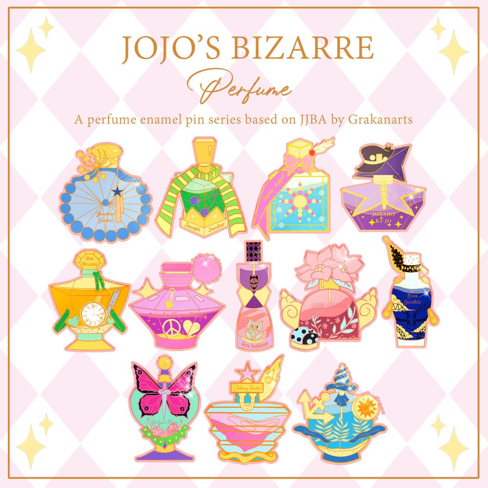 Image of Jojo Bizarre's Adventure Perfume Enamel Pins