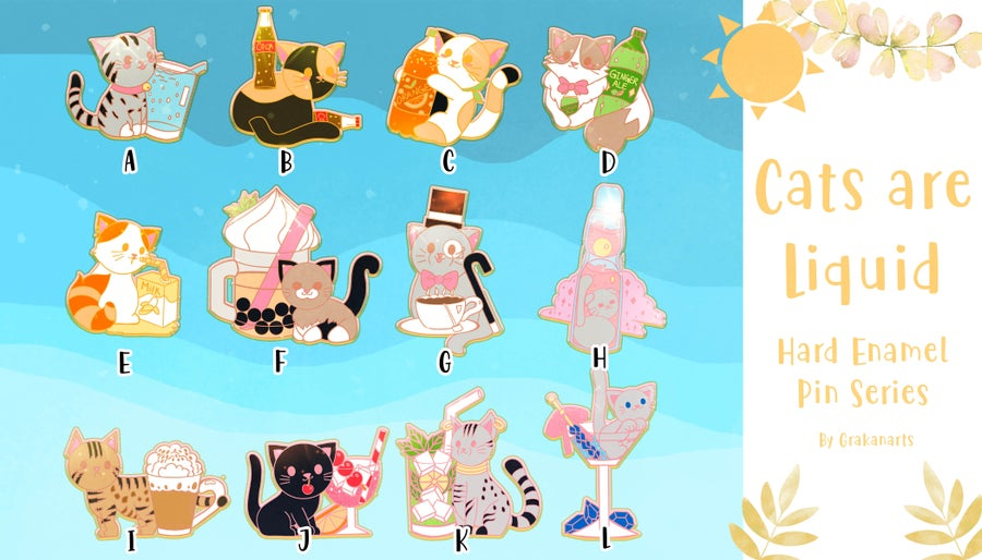 Image of Cats are Liquid Enamel Pin Series