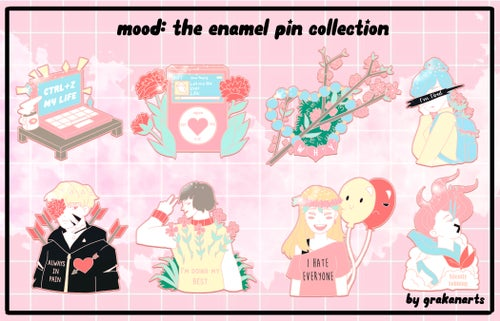 Image of Mood Enamel Pins