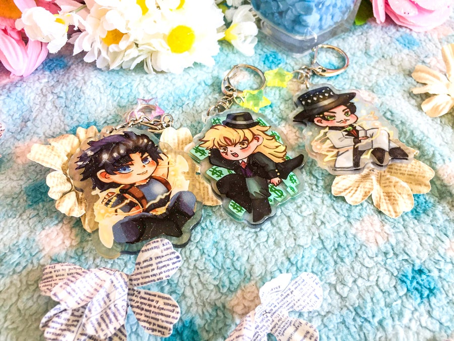 Image of Jojo Bizarre's Adventure Acrylic Charms Part 1-8