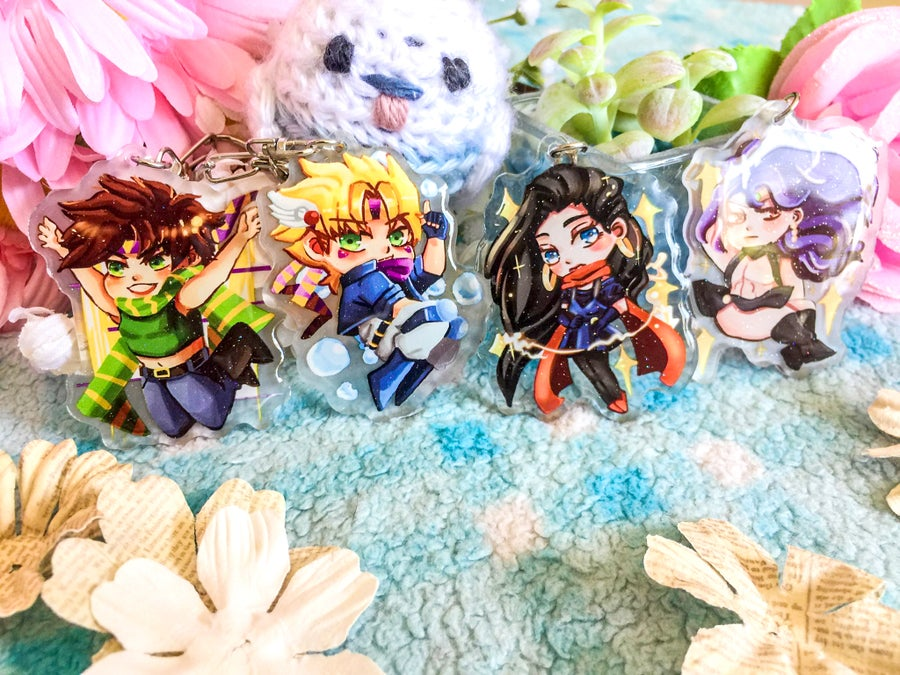 Image of Jojo's Bizarre Adventure Battle Tendency Acrylic Charms