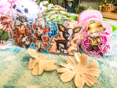 Image of Jojo's Bizarre Adventure Stardust Crusaders Acrylic Charms