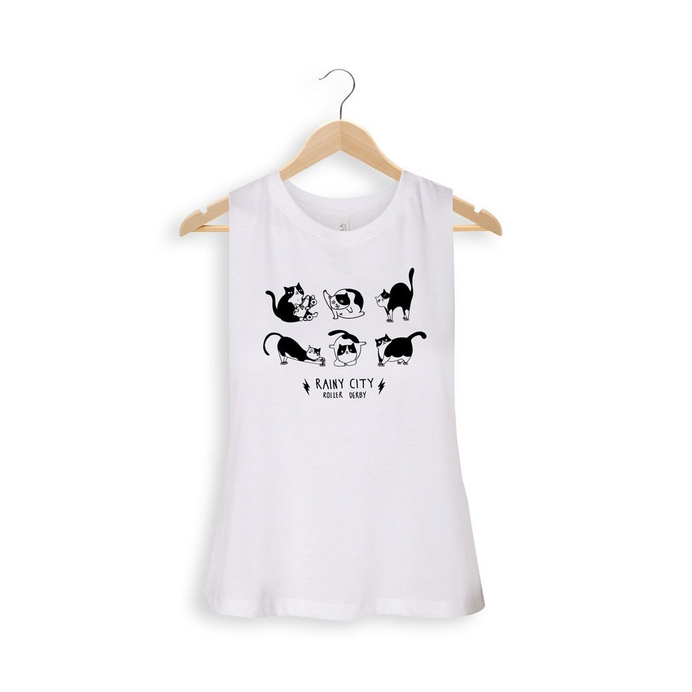 Image of Cat Merch Racer Cropped Vest