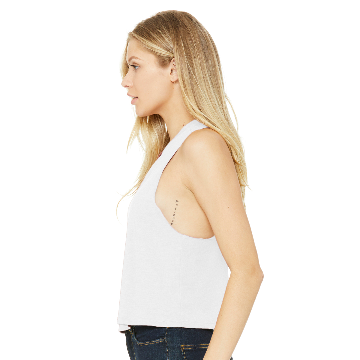Image of Cat Merch Racer Cropped Vest - now in stock