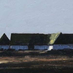 Image of Mid century Swedish Painting, Skånegård, BENGT HILLGRUND (1935-1981)