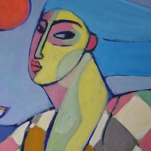 Image of Huge Contemporary Painting, 'Harlequin Hokey Cokey,' Poppy Ellis