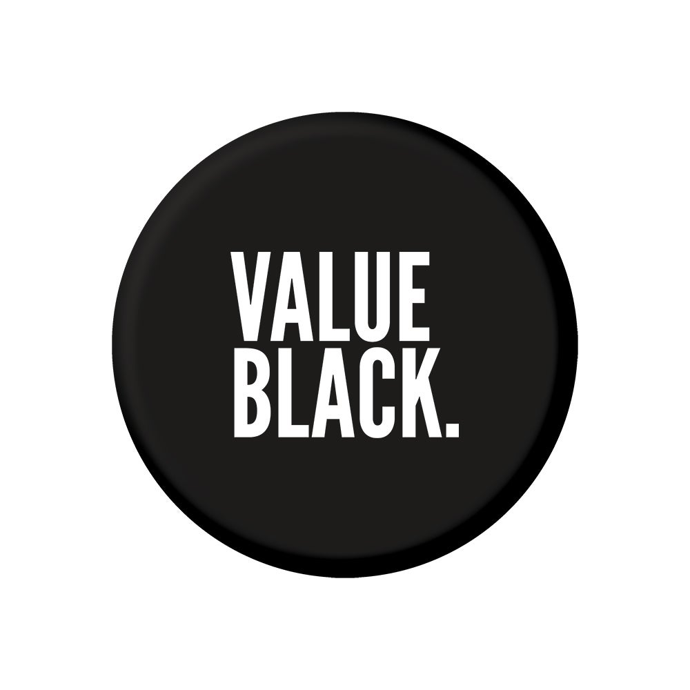 "Image of Value Black (2.25"" Button)"